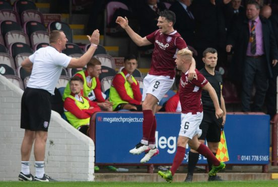 Michael McKenna's double helped Arbroath to a convincing win over Partick Thistle