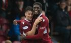 Joel Nouble has been branded a 'unique' talent by Arbroath team-mate Michael McKenna