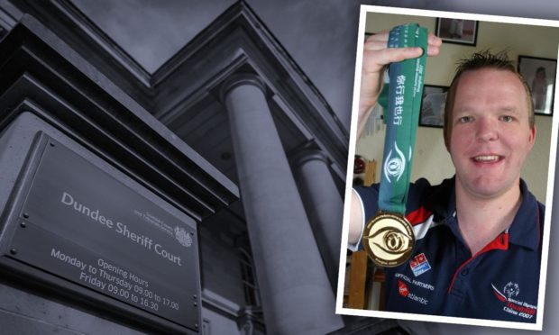 Olympic gold medallist Andrew Gray appeared at Dundee Sheriff Court for his second conviction