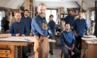 Open Studios' featured artist Angus Ross and his Aberfeldy team.
