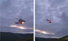 A woman is airlifted from Ben Lawers.