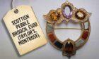 Norman watson pebble brooch