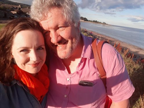 Activist Calum Cashley pictured with his wife, Laura, died earlier this week.