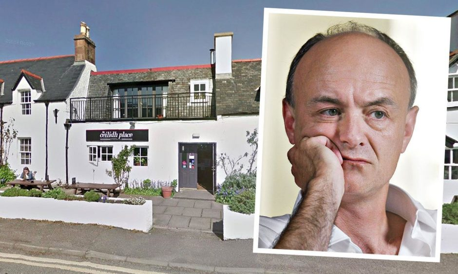 Dominic Cummings was grilled by staff during a visit to The Ceilidh Place in Ullapool.