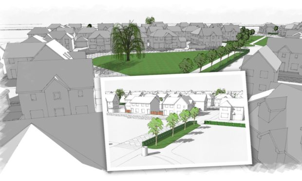 Detailed plans for the 214 home development have now been submitted to Fife Council.
