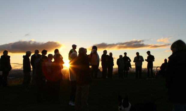 Hiroshima Memorial Day held on Dundee Law in 2018.