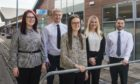 EQ Accountants welcome new graduates Megan Bertie, Christopher Dewar, Chloe Hunter, Lynsey Robertson and Sam O'Connor. Not pictured: Ross Dallas.