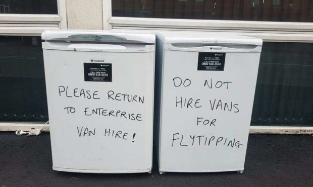 Graham left a message on the white goods on Friday.