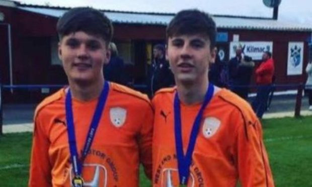 Ethan King (left) and Connor Aird were killed in the crash caused by Russell.