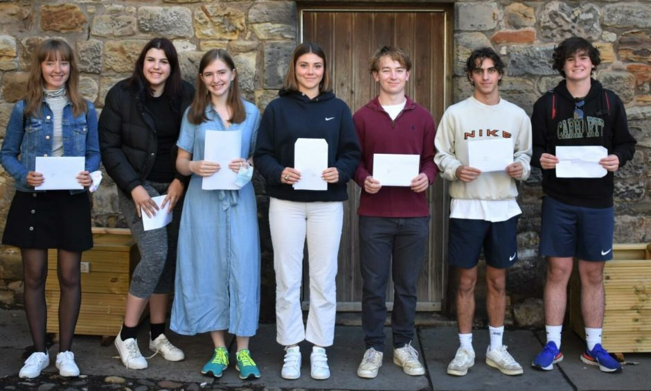 Pupils at St Leonards received their GCSEs results.