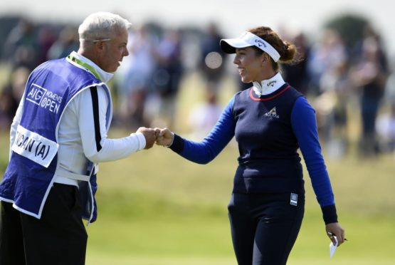 England's Georgia Hall after her second round  at Carnoustie.