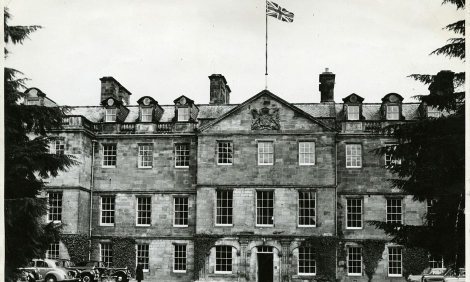 The exterior of Leslie House in June 1956.