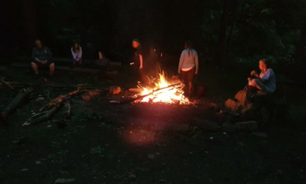 Dundee Scouts camping