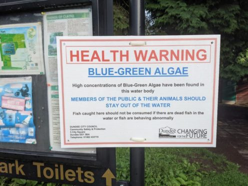 Warning signs have been put up at the reservoir.