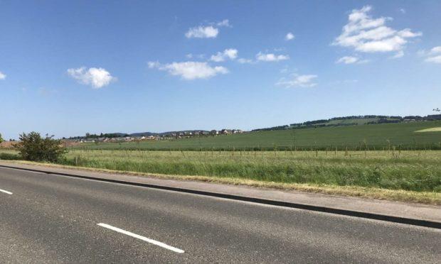 Developer Guild Homes hopes to build on open farmland west of Forfar.