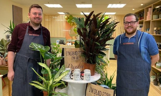 Owners of florist and gift shop Olly Bobbins, Joe Rodger and Paul McFawns.