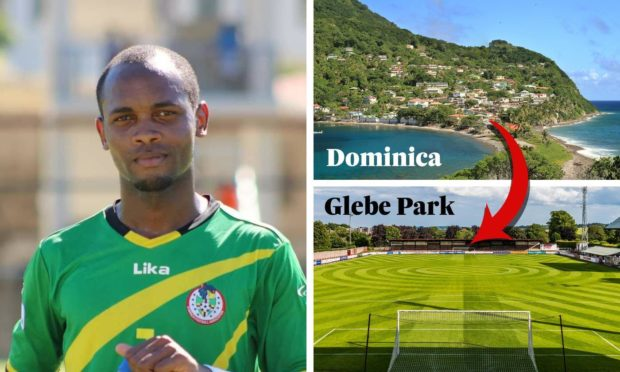 Julian Wade has left behind his Dominica homeland to start a new life in Scotland at Brechin City