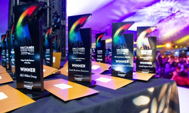 Some of the Courier Business Awards winners in 2019.