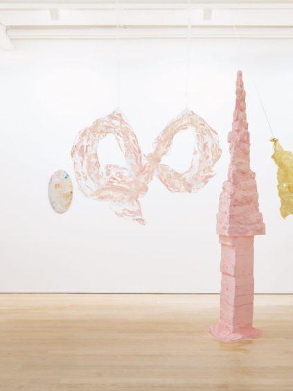 Artist Karla Black's work.