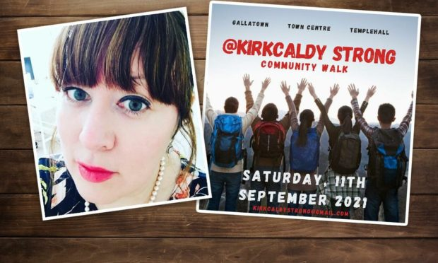 Lisa organised the Kirkcaldy Strong walk.