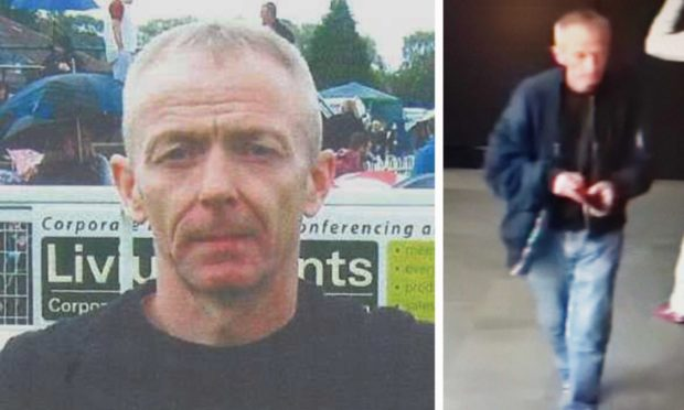 Mark Barrott pictured in 2015, and from CCTV taken at Leeds station.