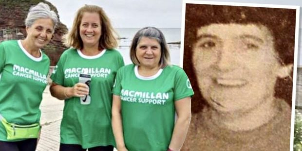Elizabeth, Sandra and Laura are walking for charity.