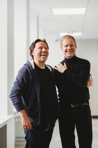 Composer Max Richter (right), with The Baltic Sea Philharmonic conductor Kristjan Järvi (left).