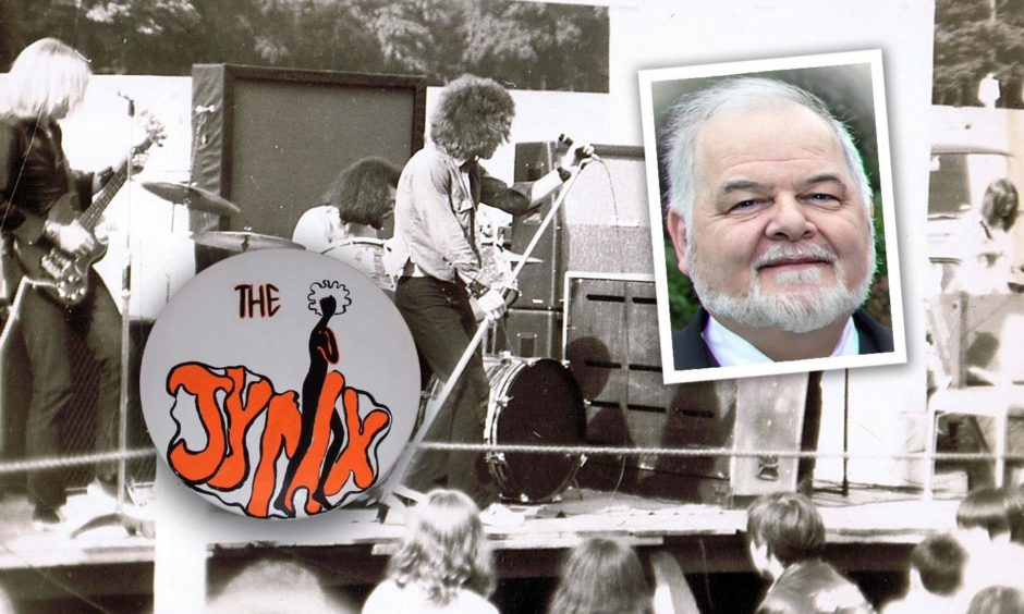 Bob Carson, inset, and the 1971 Camperdown Park gig played by Jynx.