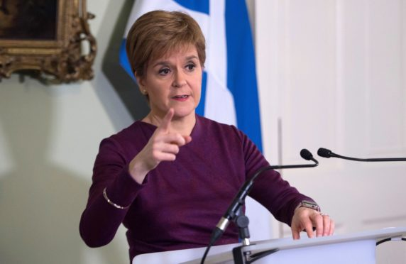 Nicola Sturgeon sets out the case for a second referendum on Scottish independence at Bute House in 2019.