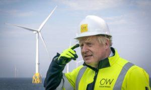 Boris Johnson at Moray East offshore wind farm site
