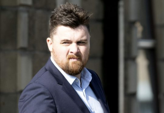 Marc Cosgrove arrives at Perth Sheriff Court