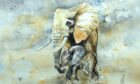 A Mother's Love by Jeni MacNab. A painting to be sold at Dunkeld Art Exhibition.