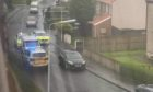 Police vehicles and the van following the pursuit. (Pic Fife Jammer Locations).