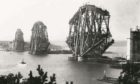 The Forth Bridge under construction in 1887.
