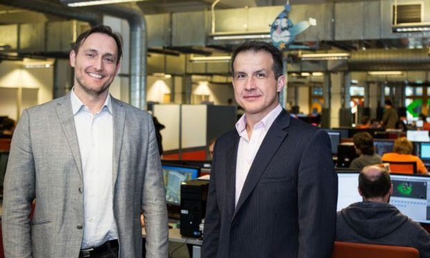President Richard Hare and chief executive Douglas Hare of Outplay Entertainment.