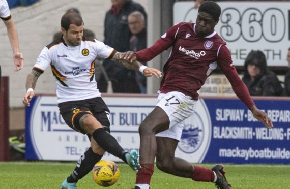 Action from the match at Gayfield at the centre of the allegations.