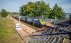 A ScotRail train in Invergowrie.