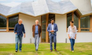 Pictured from left is Willie Auld, Les Ball, Health Secretary Humza Yousaf, and Rubina Zafar at Maggie's Centre, Dundee