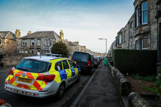 David Street, Kirkcaldy - the scene of the alleged murder