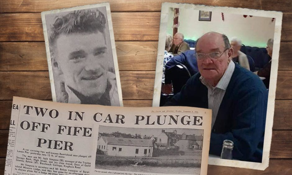 William Burns as a young man and in later life and how The Courier reported his bravery in 1964.