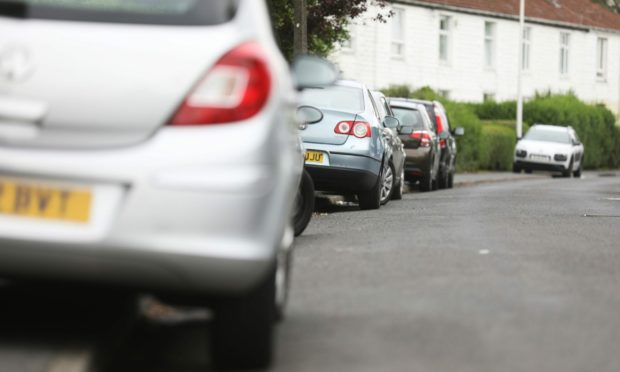 Bad parking on a Dundee street