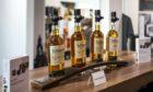 Tullibardine whiskies on display.
