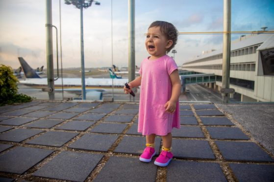 Toddlers and airports - never a great combination.