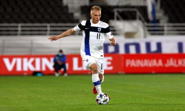 Finland winger Ilmari Niskanen.