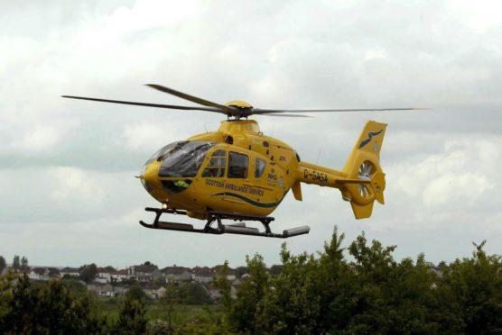 A Scottish Ambulance Service air ambulance. Photo by Shutterstock.