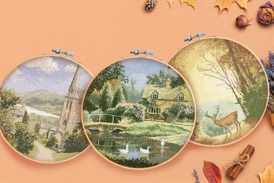 autumn cross-stitch designs