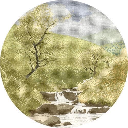 Mountain Stream Cross Stitch Design