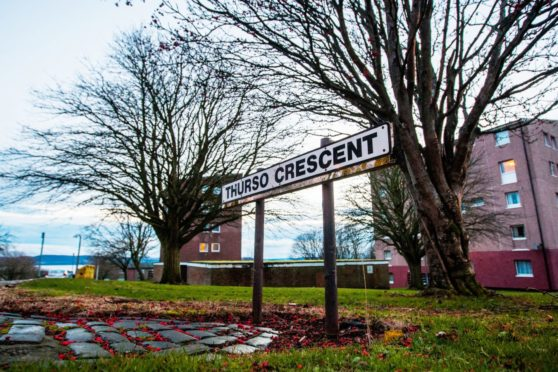 The offence happened in Dundee's Thurso Crescent.