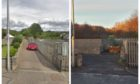 Before and after the route was blocked on Ferry Road, Monifieth.