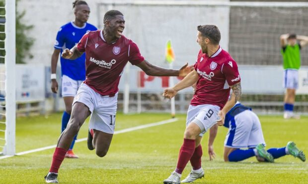 Joel Nouble is has become a real hero with the Arbroath fans